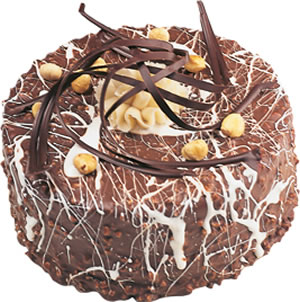 4 ile 6 kisilik çikolatali yas pasta