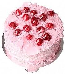 4 ile 6 kişilik frambuazlı yaş pasta